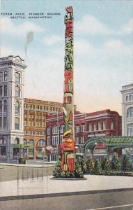 Washington Seattle Indian Totem Pole Pioneer Square 1952