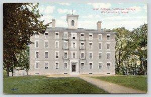 Williamstown Massachusetts~Williams College~West College~c1910 Postcard