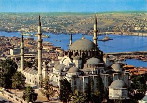 Turkey Istanbul Suleymaniye Mosque and a view of Golden Horne