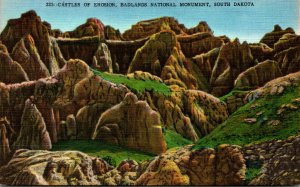 South Dakota Badlands National Monument Castles Of Erosion
