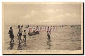 Old Postcard Le Touquet Paris Plage sea day center