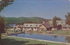 Swimming Pool at Mont Tremblant Lodge, Mt. Tremblant, Quebec, Canada, PU-1953