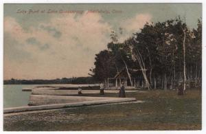 Middlebury, CT,  Early View of the Lake Front, Lake Quassapaug, 1909
