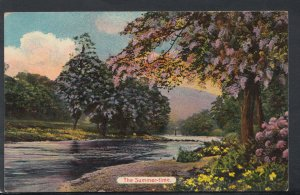 Nature Postcard - Seasons - The Summertime - River and Trees RS11852