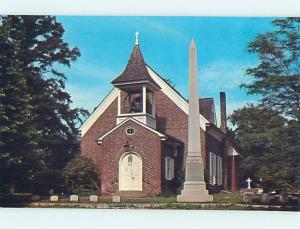 Unused Pre-1980 CEMETERY GRAVEYARD & CHURCH SCENE Dover Delaware DE p3788@