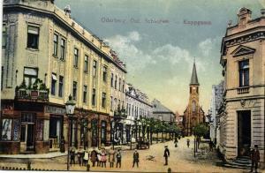 czech germany, ODERBERG BOHUMIN, Koppgasse, Street Scene (1917) Upper Silesia