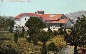 Sulphur Baths, Ashland, Oregon c1910s Mitchell Vintage Postcard