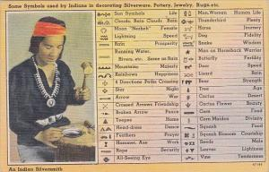 Indian Silversmith & Symbols Used In Decorating Silverware Pottery Jewelry an...