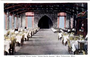 TAMMEN 4519 Interior Dining Lodge, Union Pacific, Yellowstone National Park