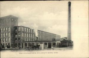 South Barre MA Francis Willey Co Mill c1910 Postcard