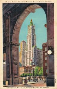 USA Transportation Building and Woolworth Building New York City 01.99