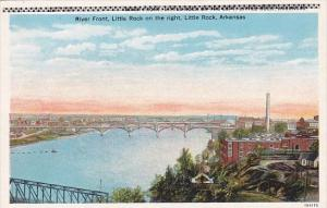 Arkansas Little Rock River Front Little Rock On The Right