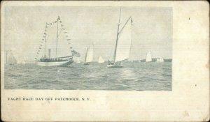 Patchogue Long Island NY Yacht Race Day c1905 Postcard