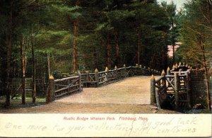 Massachsuetts Fitchburg Whalom Park Rustic Bridge 1907