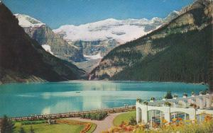 Canada Lake Louise Mount Lefroy and Victoria Glacier Banff National Park Alberta
