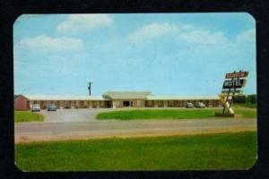 OH View Rainbow Motel MONTPELIER OHIO Postcard PC