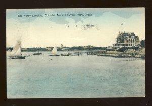 Gloucester, Massachusetts/MA Postcard, Ferry Landing, Colonial Arms, Eastern Pt
