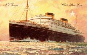 White Star Line - MV Georgic. Artist: Walter Thomas