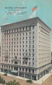 EL PASO , Texas , 1910s ; Hotel Orndorff