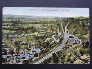 Canada: Dundas Valley near Hamilton Showing Railway Line & Depot - Old Postcard