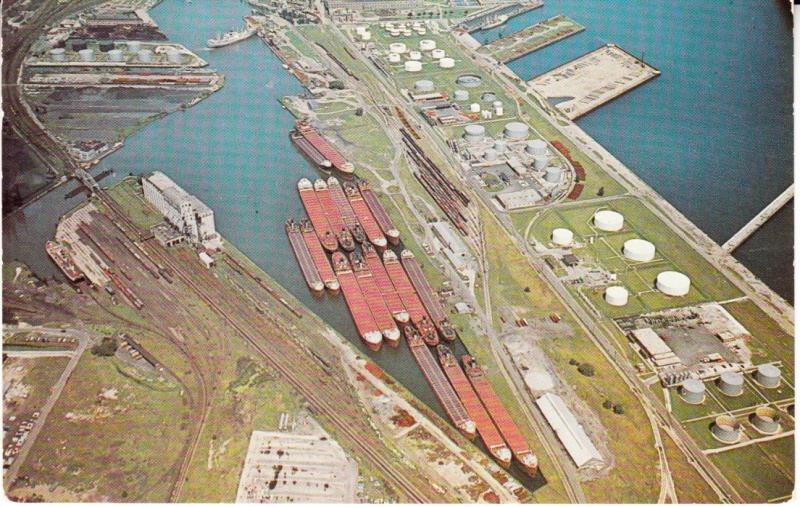 Port of Milwaukee/Jones Island Aerial Photo 1960