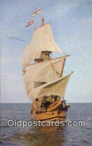 The Mayflower II, Plymouth, Massachusetts, MA USA Sailboat Writing on back
