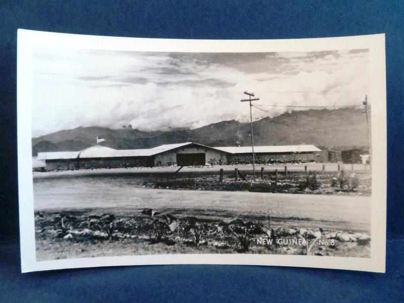 Postcard New Guinea Grogan RPPC Real Photo WW2 Military Base?
