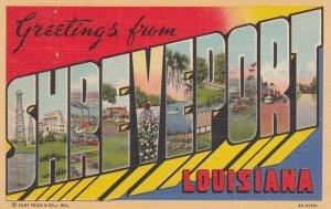 Large Letter Greetings, SHREVEPORT, Louisiana, 1930-40s