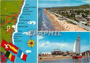 Modern Postcard Costa Dorado Tarragona Calafell