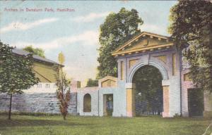 Arches in Dundurn Park, HAMILTON, Ontario, Canada, PU-1909
