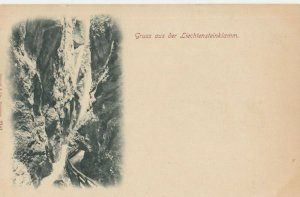 Gruss aus der Liechtensteinklamm , Switzerland , 1890s