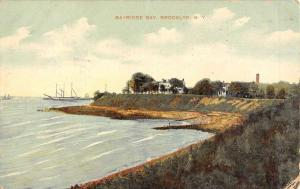 Brooklyn New York Bayridge Bay Waterfront Antique Postcard K106884