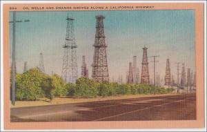 Oil Wells & Orange Groves, CA