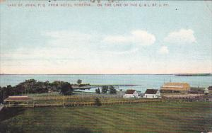 QUEBEC, Canada, 1900-1910's; Lake St. John From Hotel Roberval