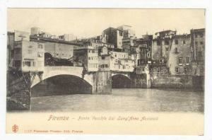 Firenze (Tuscany), Italy, 1900-1910s, Ponte Vecchio Dal Lung'Arno Acciaioli
