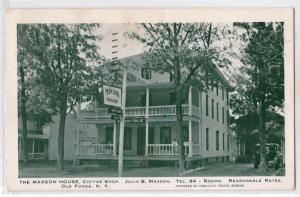 Maxson House, Coffee Shop, Old Forge NY