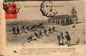 CPA France - Folklore - Legende de St-Saulge - La Corde de Laine (770977)