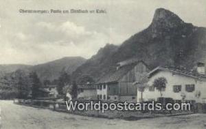 Oberammergau Germany, Deutschland Postcard Partie am Muhlbach mit Kofel  Part...