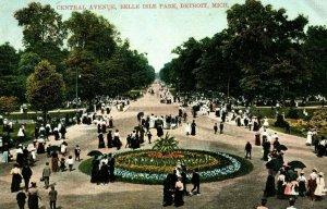 C.1900-09 Central Avenue, Belle Isle Park, Detroit, Michigan Postcard G2