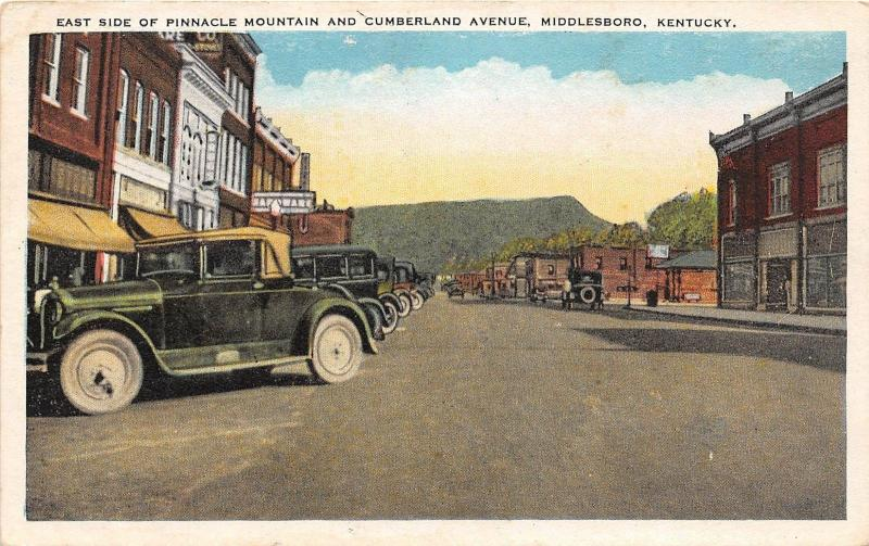 Kentucky Ky Postcard c1910 MIDDLESBORO Car Hardware PINNACLE Mountain Cumberland