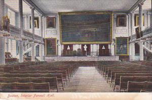 Interior of Faneuil Hall, Boston, Massachusetts, 00-10's