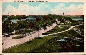Maine Portland Western Promenade 1927
