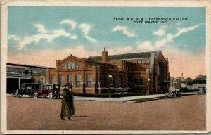 Fort Ft Wayne Indiana~Pennsylvania Passenger Station~Railroad Depot~1917 PC