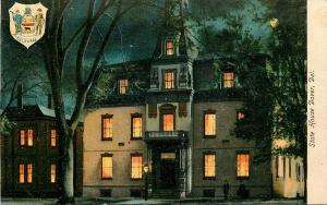 DOVER DELAWARE STATE HOUSE WITH SEAL POSTCARD