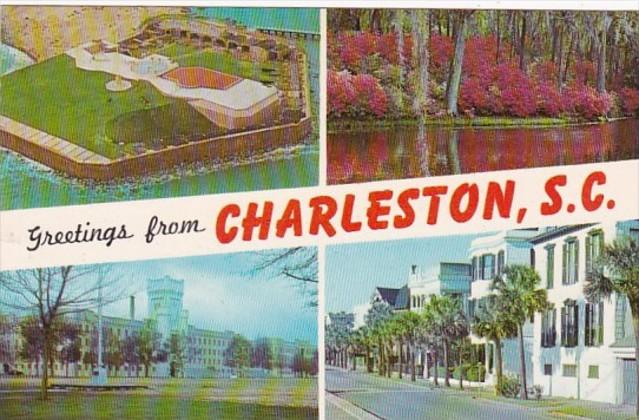 Greetings From Charleston South Carolina Multi View