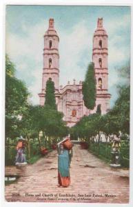 Plaza Church Guadalupe San Luis Potosi Mexico postcard