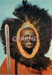 Postcard Modern Masai Warrior Kampala