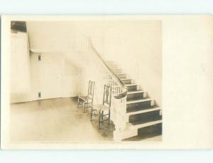 Pre-1930 rppc SCHUYLER MANSION STAIRS Albany New York NY i9526