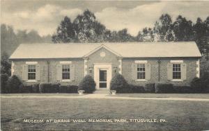 Titusville Pennsylvania~Museum At Drake Well Memorial Park~1930s Sepia Litho PC