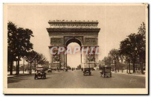 Old Postcard Paris Arc de Triomphe & the Champs Elysees # 39etoile